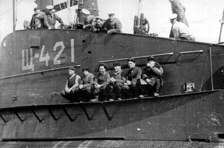 Экипаж подводной лодки Щ-421