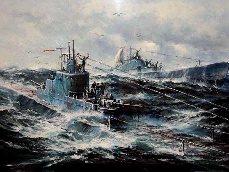 Встреча подводных лодок К-22 и Щ-421
