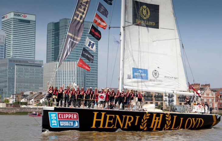 финиш clipper rownd the world 2014