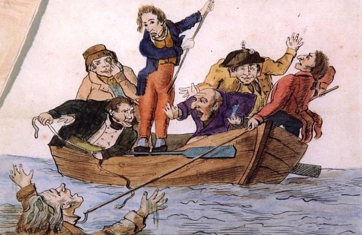 спасение утопающего, карикатура художника илличевского