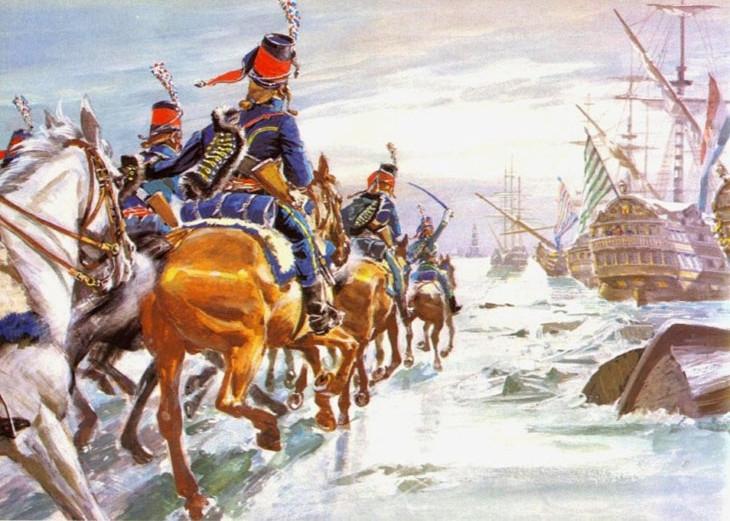 атака кавалерии корабельной эскадры