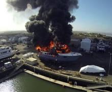 Сгорела яхта за 18 миллионов долларов
