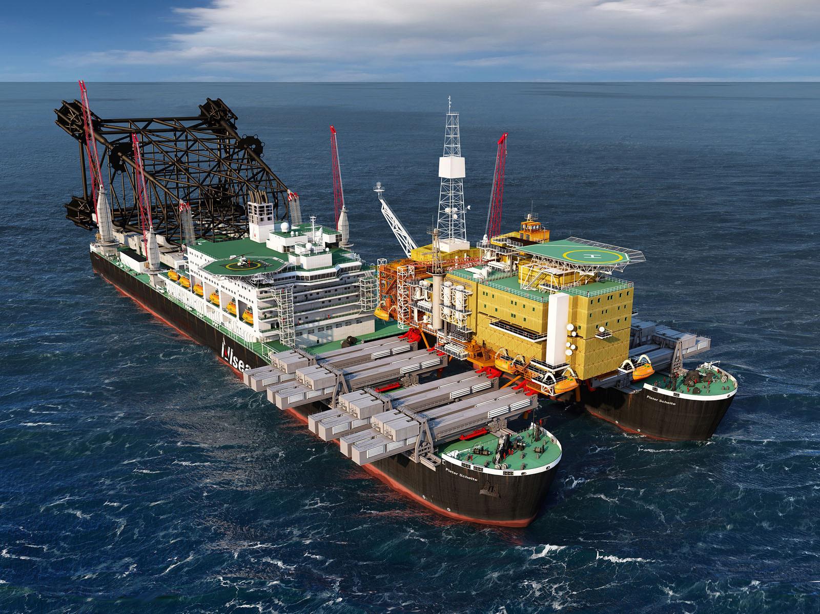 """крупнейшее в мире судно """"Pieter Schelte"""""""