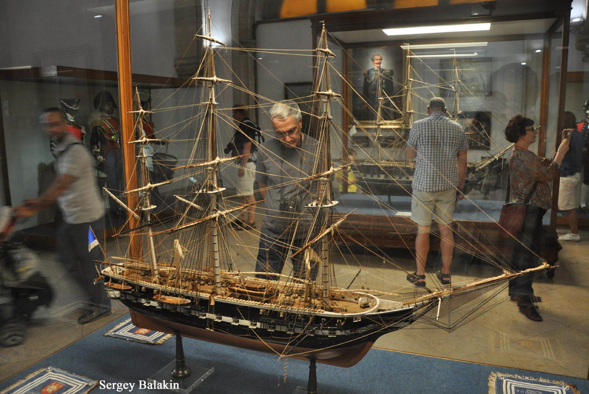 Модель фрегата «Дон Фернанду II э Глория» в экспозиции Морского музея в Лиссабоне.