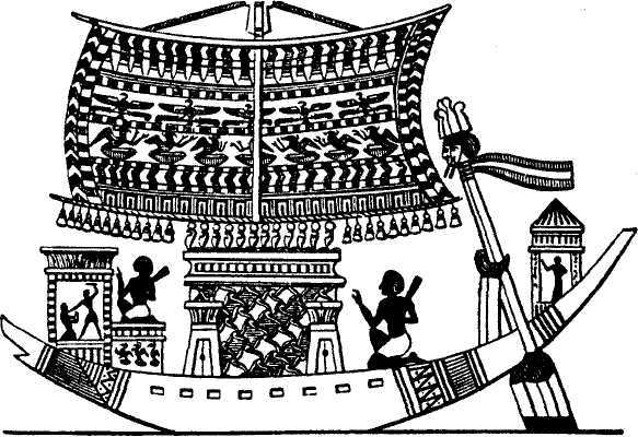 Изображение корабля Египтян .