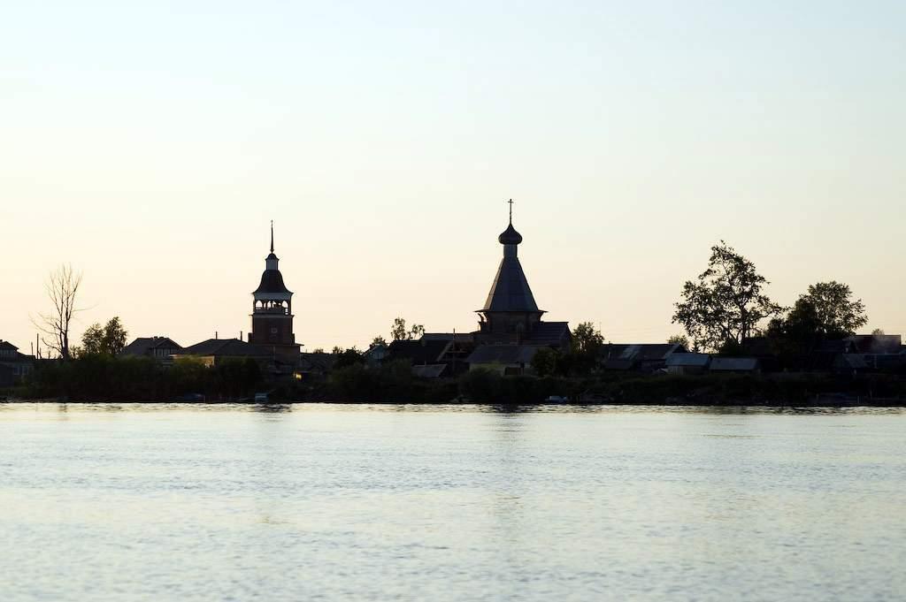 Устье реки Вычегда,   город Котлас