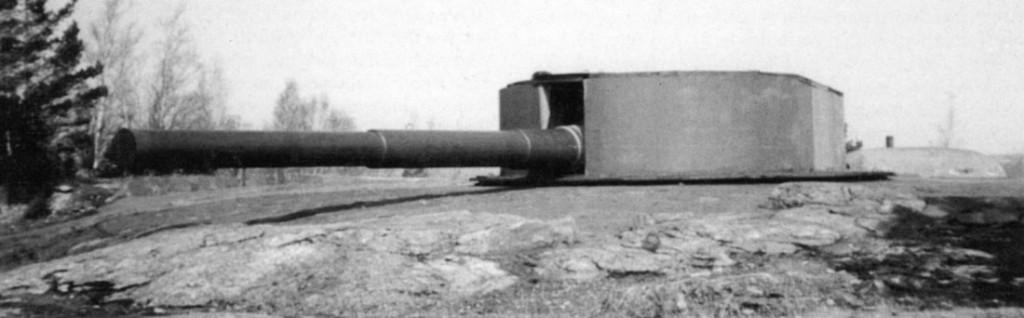 305-мм орудие с «Генерала Алексеева», установленное на береговой батарее острова Исосаари.