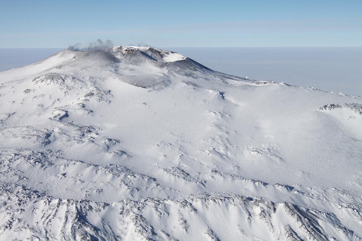 Самый южный вулкан.