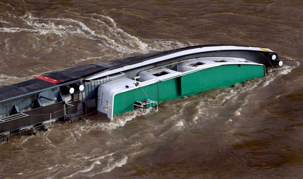"The capsized German-flagged vessel ""Wald"