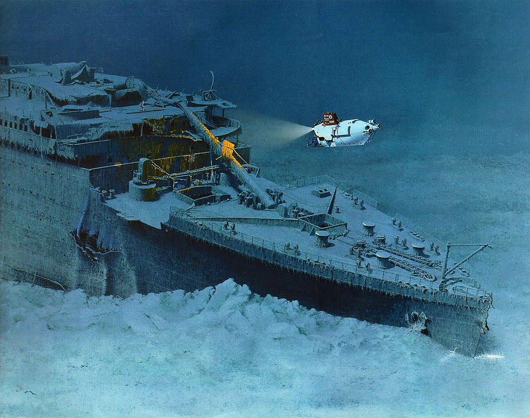 титаник картинки под водой