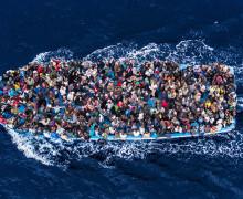 Гуманитарный кризис в Средиземном море.