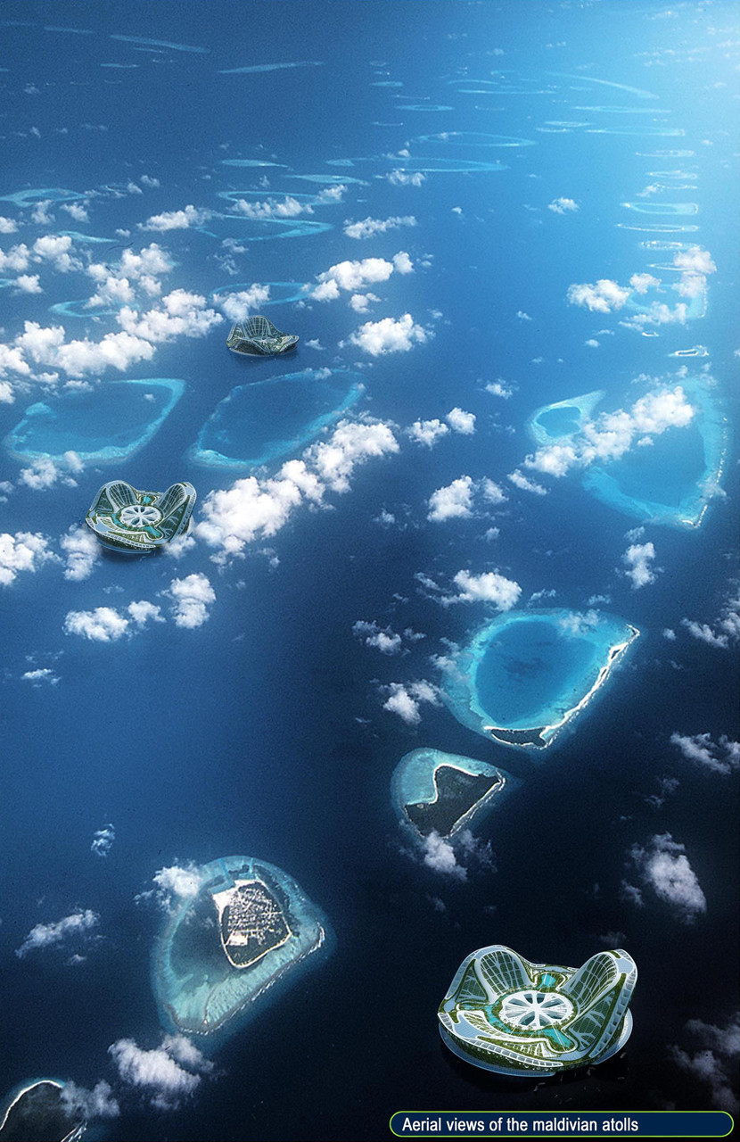 Проект Lilypad Среди Мальдивских островов.