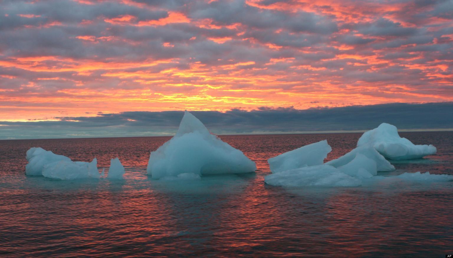 Невероятные закаты в Арктике.