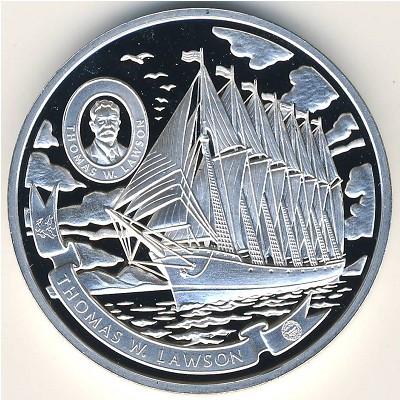 А это обычная 5-долларовая монета островов Кука – так сказать, «эконом-вариант»