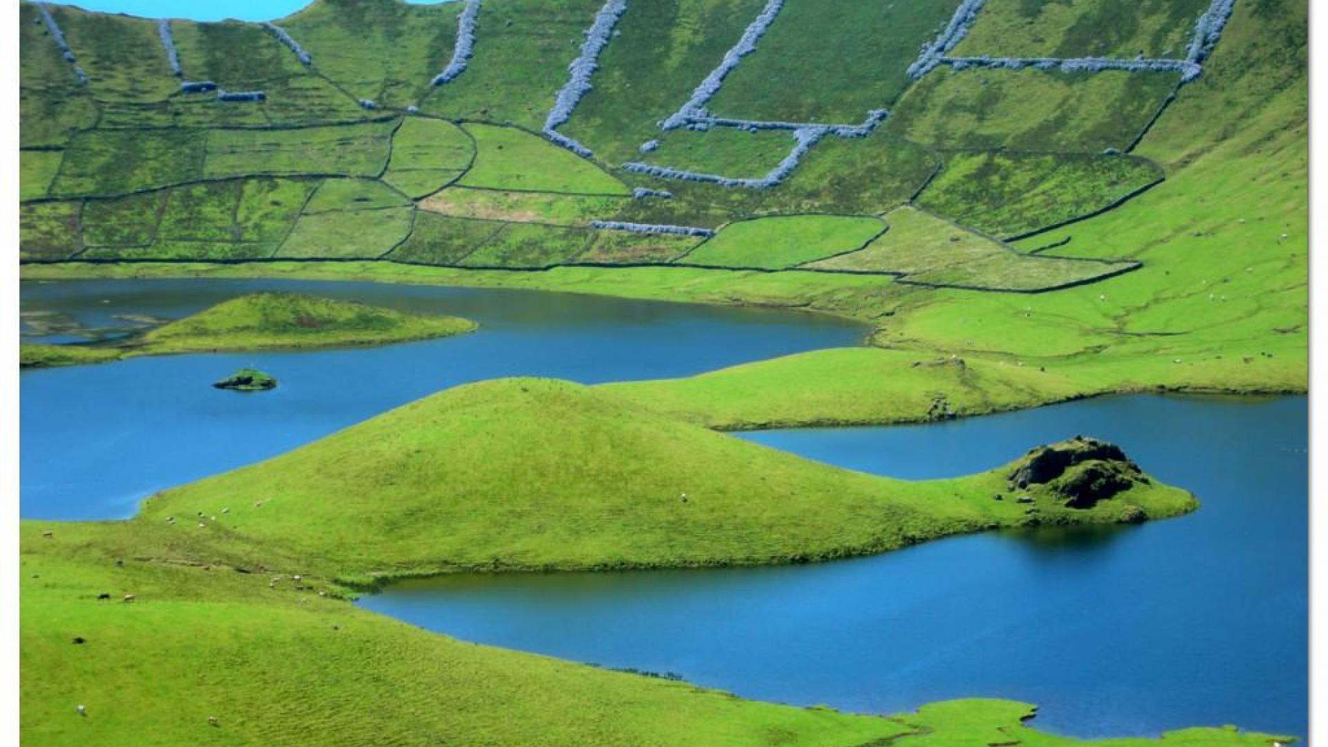 Азорские острова. В жерле потухшего вулкана