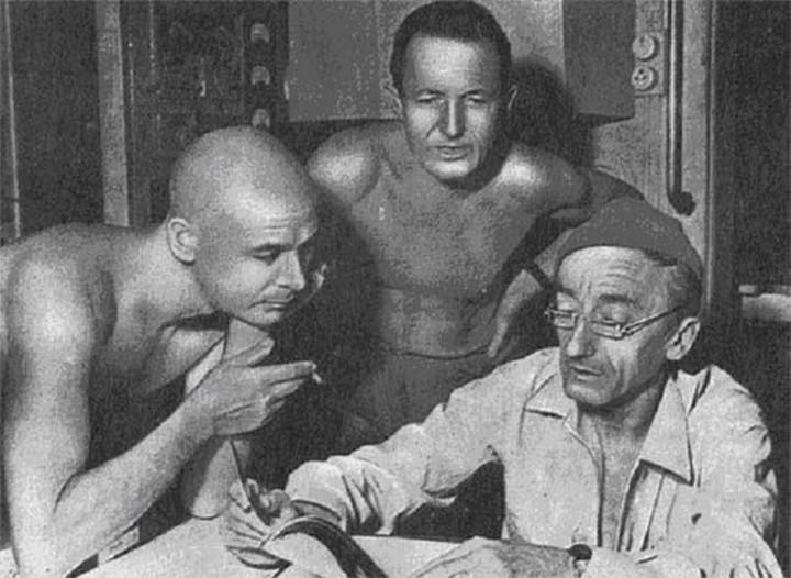 Жак Кусто и Андрэ Лабан