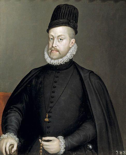 Король испании Филлип II в честь которого были названы острова - Филлипины