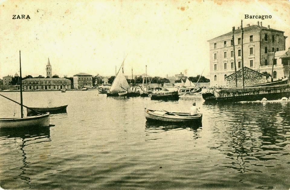 На этой старой открытке – город Зара, нынешний Задар