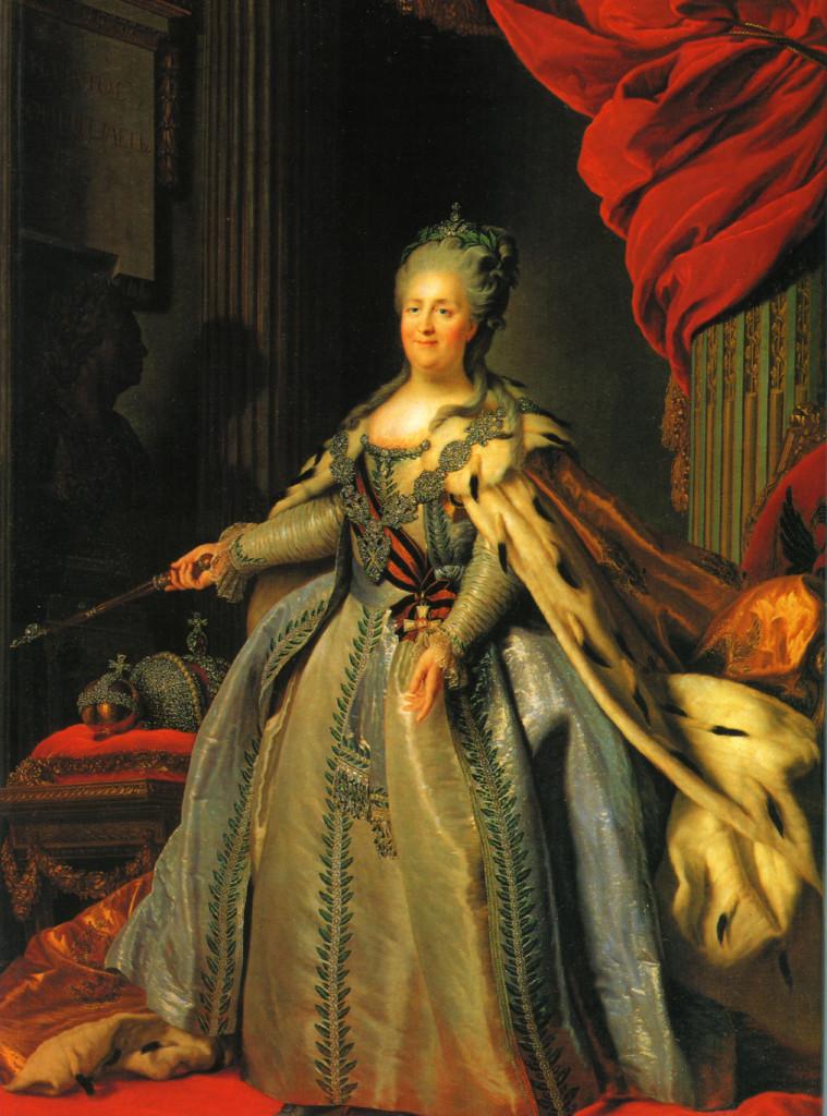 Императрица Екатерина Великая. Портрет неизвестного художника, 1780-е гг.