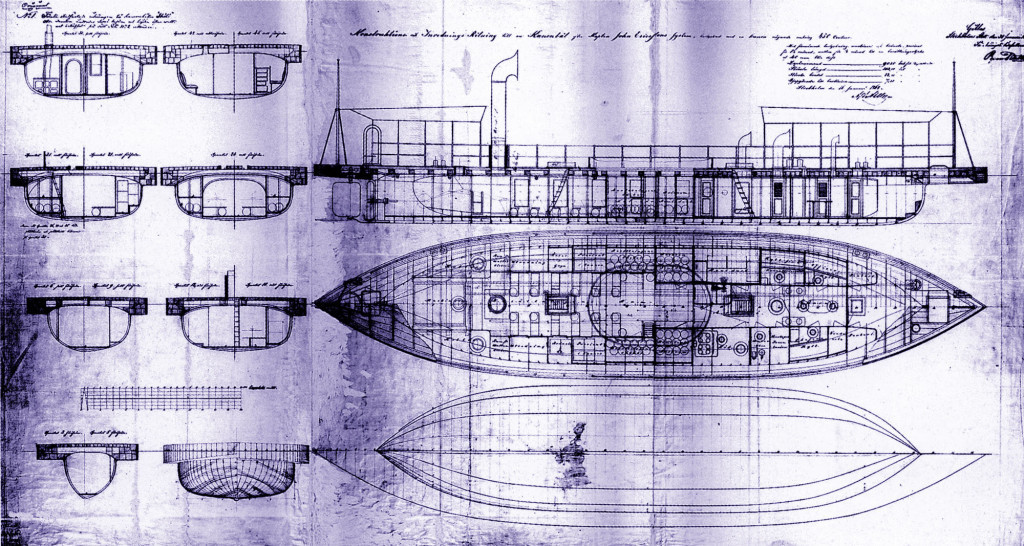 Подлинные чертежи канонерской лодки «Шёльд»