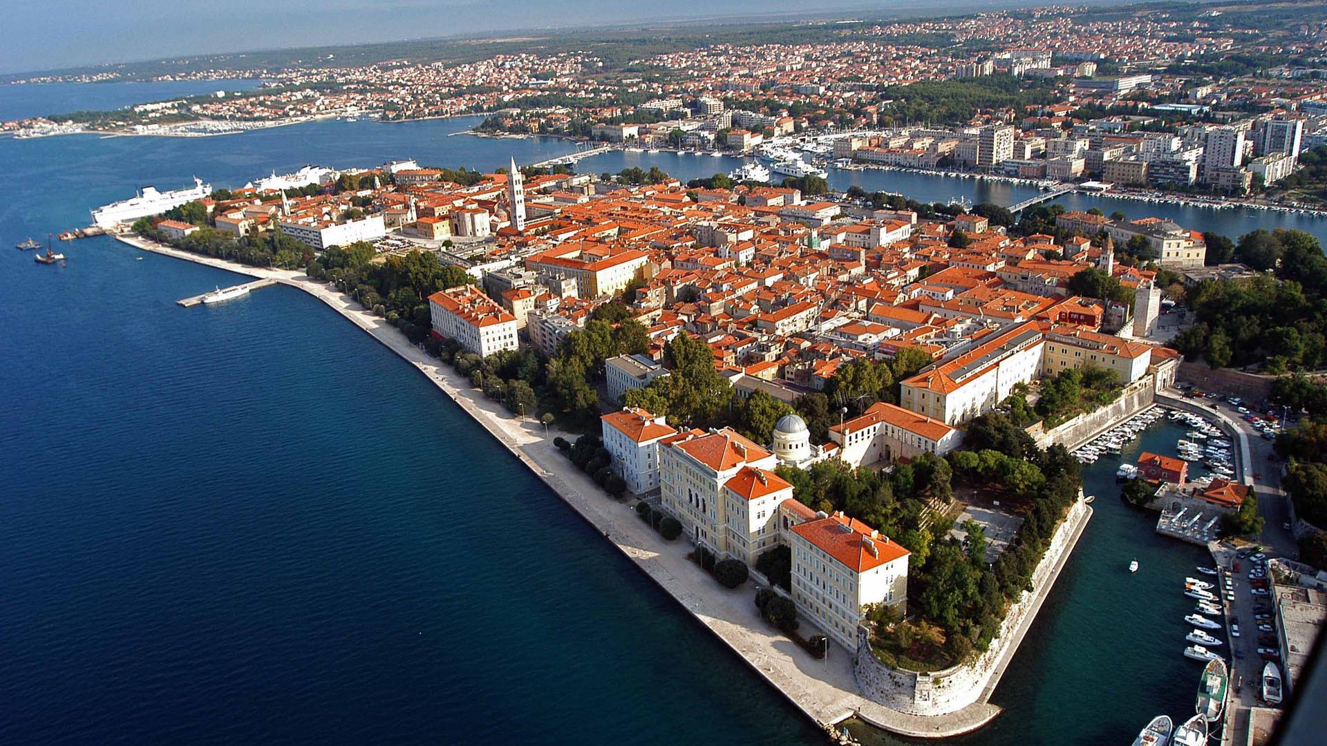 Хорватский город Задар - один из живописнейших на побережье Адриатического моря