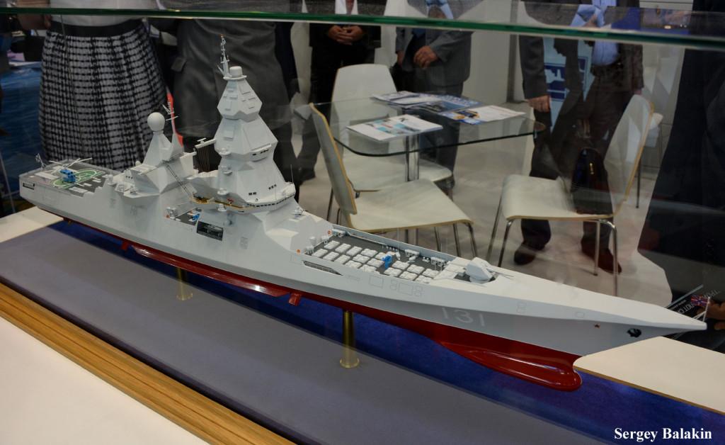 Модель эсминца проекта 23560