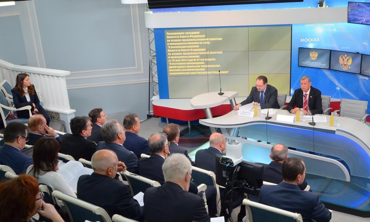 Расширенное заседание в Совете Федерации о поэтапном прекращении дрифтерного промысла.