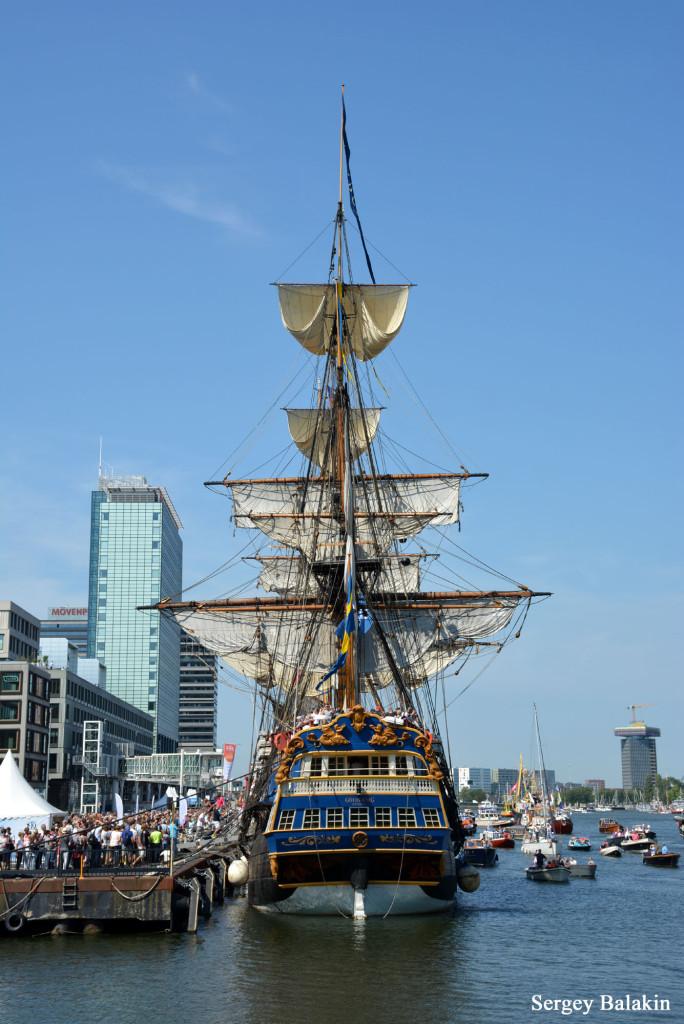 Ещё одна великолепная реплика – судно шведской Ост-Азиатской компании «Gotheborg»