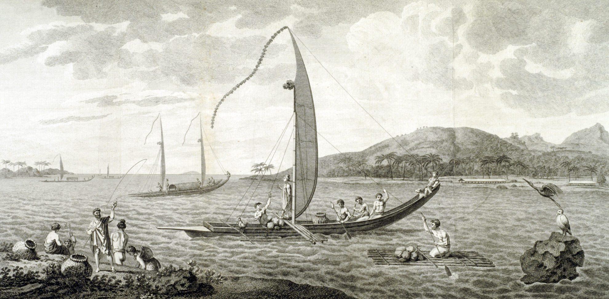 cook-matavai bay-tahitian boats