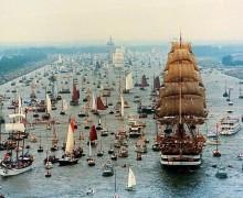 «Крузенштерн» принял участие в Параде парусов в Амстердаме