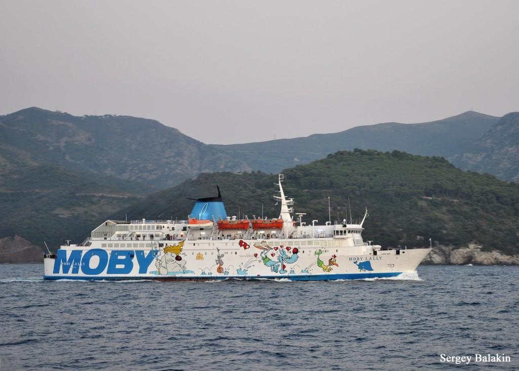 «Весёлые картинки» на борту парома «Moby Lally»