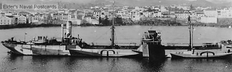 На борту этого танкера нарисована целая флотилия каботажных судов