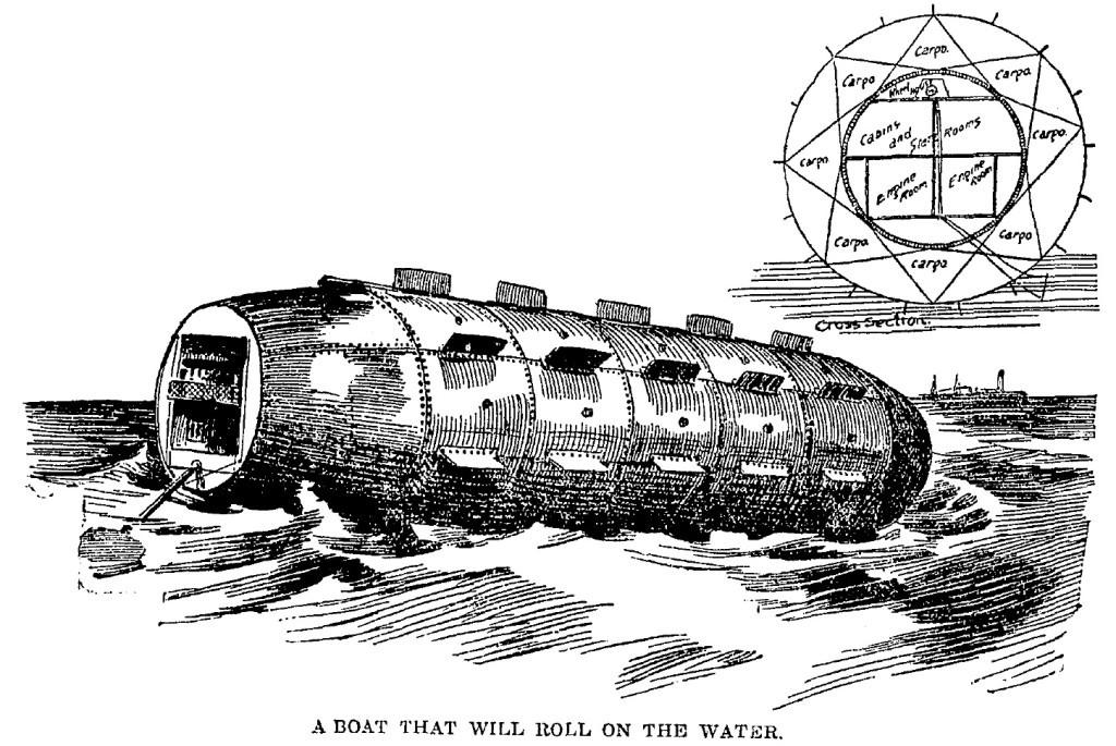Проект «катящегося судна» Ф.Нэппа
