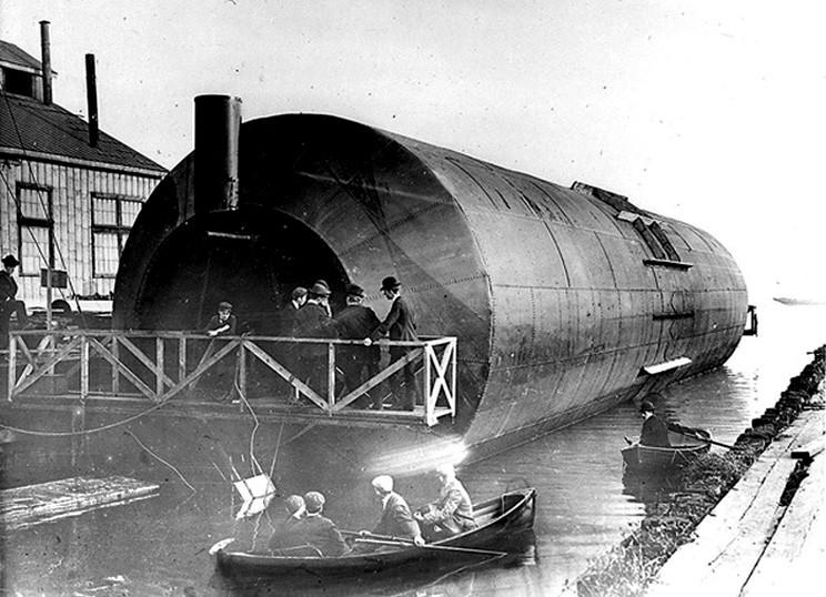 «Роллер бот» после спуска на воду