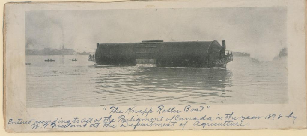 Испытания «роллер бота» на озере Онтарио, апрель 1898 г.