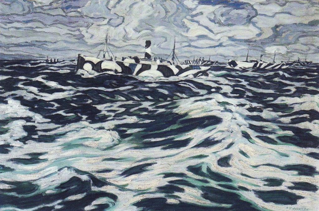 Картина Александера Джексона «Конвой», 1919 г.