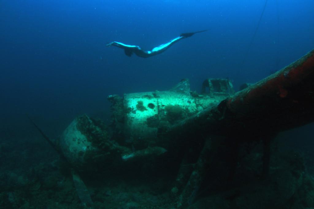 Японский гидросамолёт «Джейк» (Aichi E13A-1) времён Второй мировой войны. Он хорошо сохранился - по-видимому, погиб не в бою, а в результате аварии