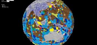 Ученые показали Землю без океанов