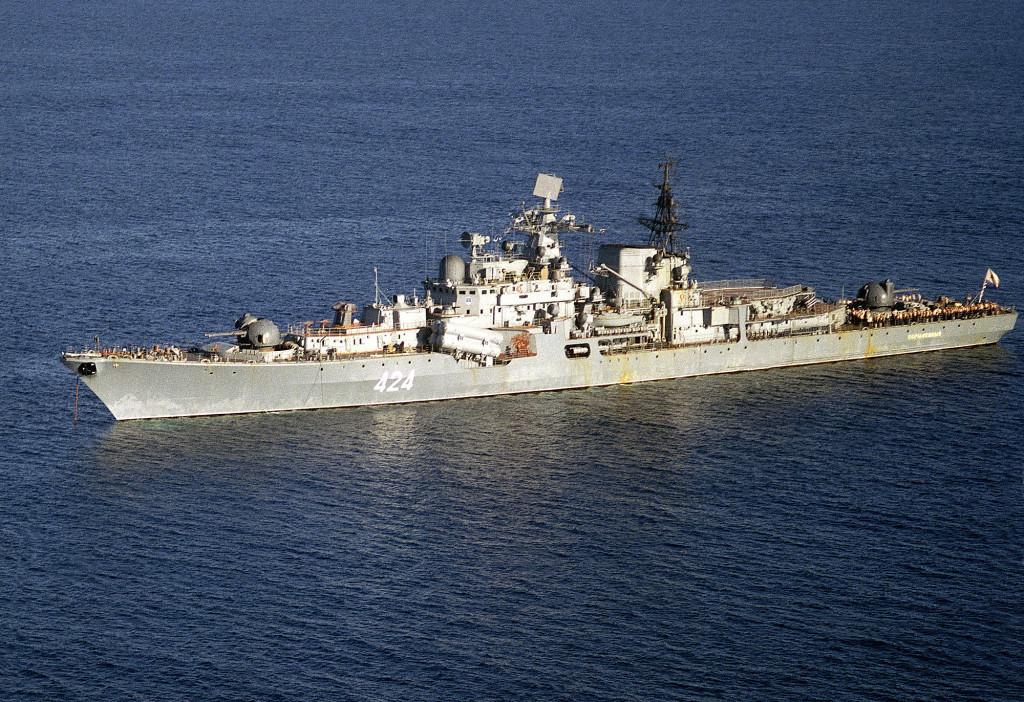 Эсминец «Окрылённый» проекта 956. В отечественном флоте корабли этой серии стали самыми крупными представителями своего класса и единственными, официально отнесёнными к 1-му рангу