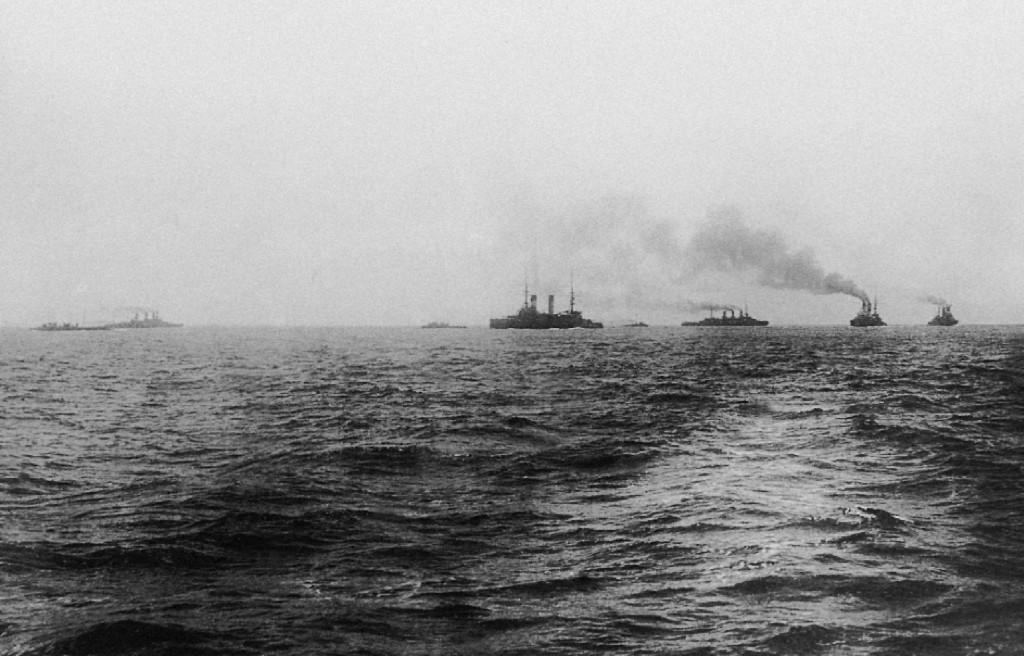 Маневрирование кораблей 2-й Тихоокеанской эскадры в районе Мадагаскара, 1905 г.