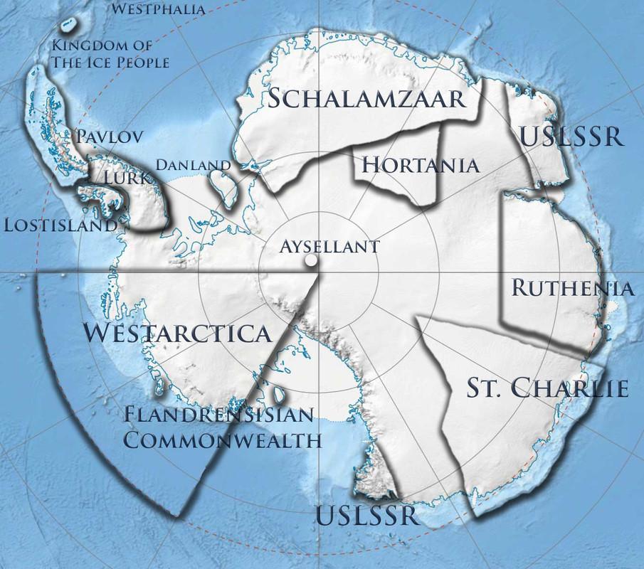 Вестарктика на карте