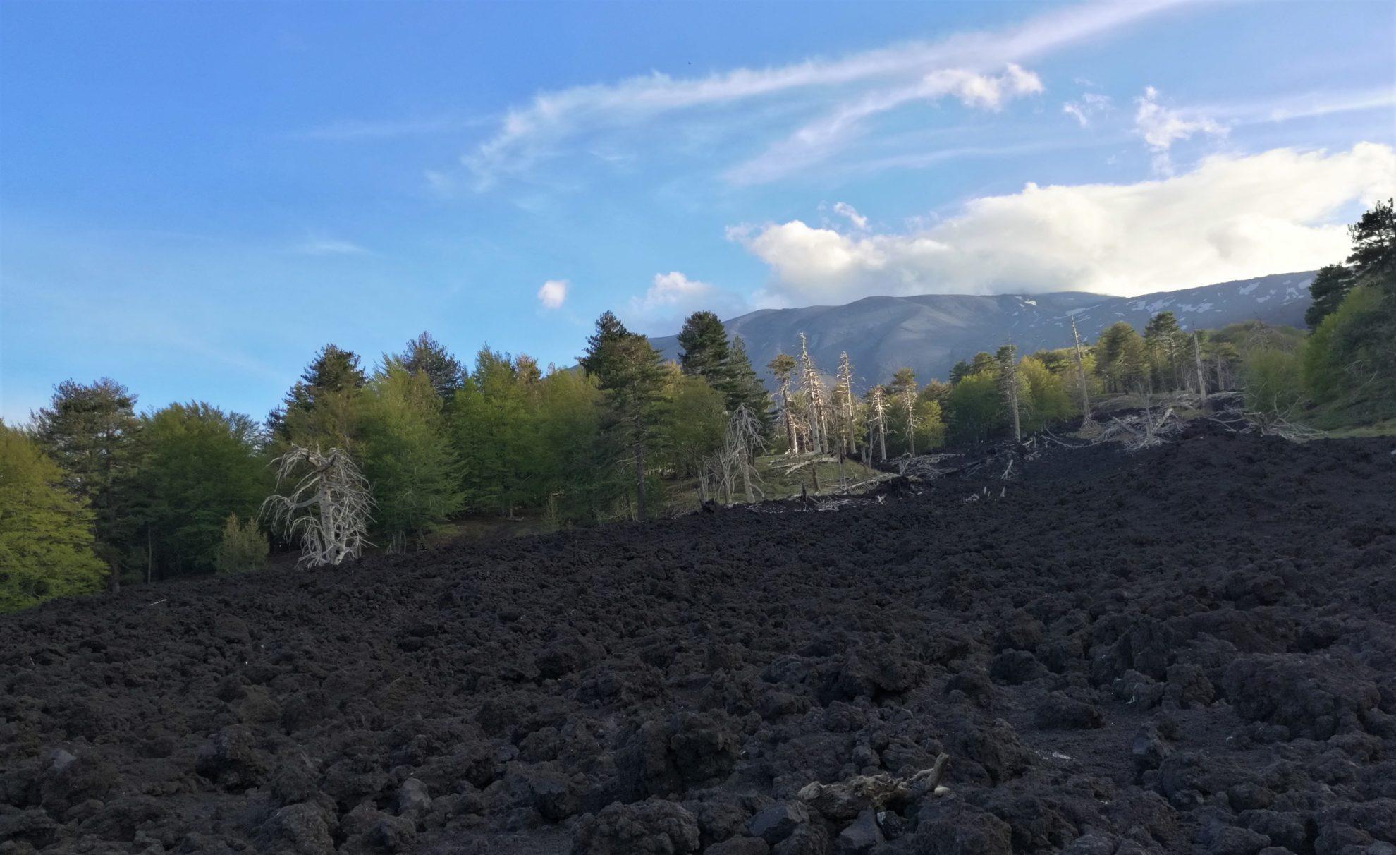Склоны вулкана Этна больше похожи на пейзажи другой планеты