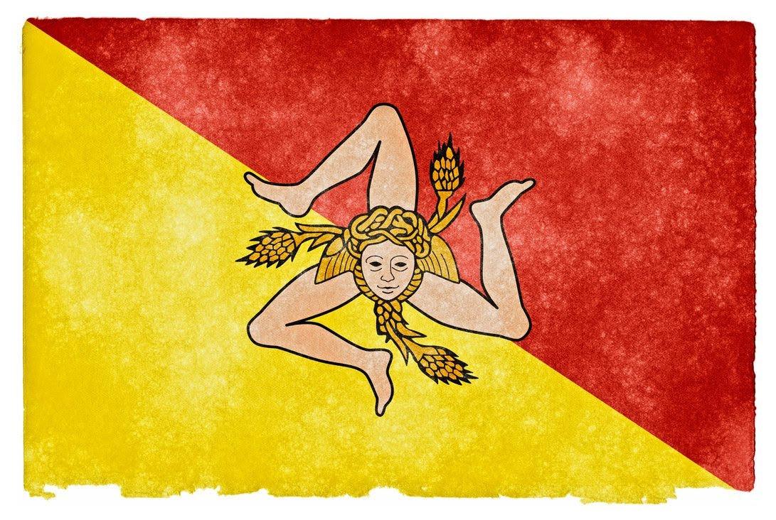 Трискелион на флагаe Сицилии - один из самых древних знаков, символизирующий Солнце, но в последствие Трискель как символ солнца оттеснила свастика.