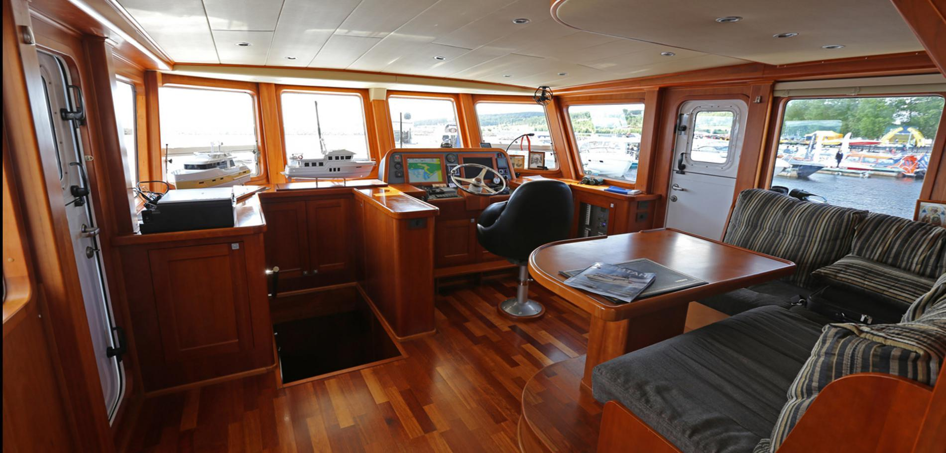 капитанский мостик судна проекта кусто