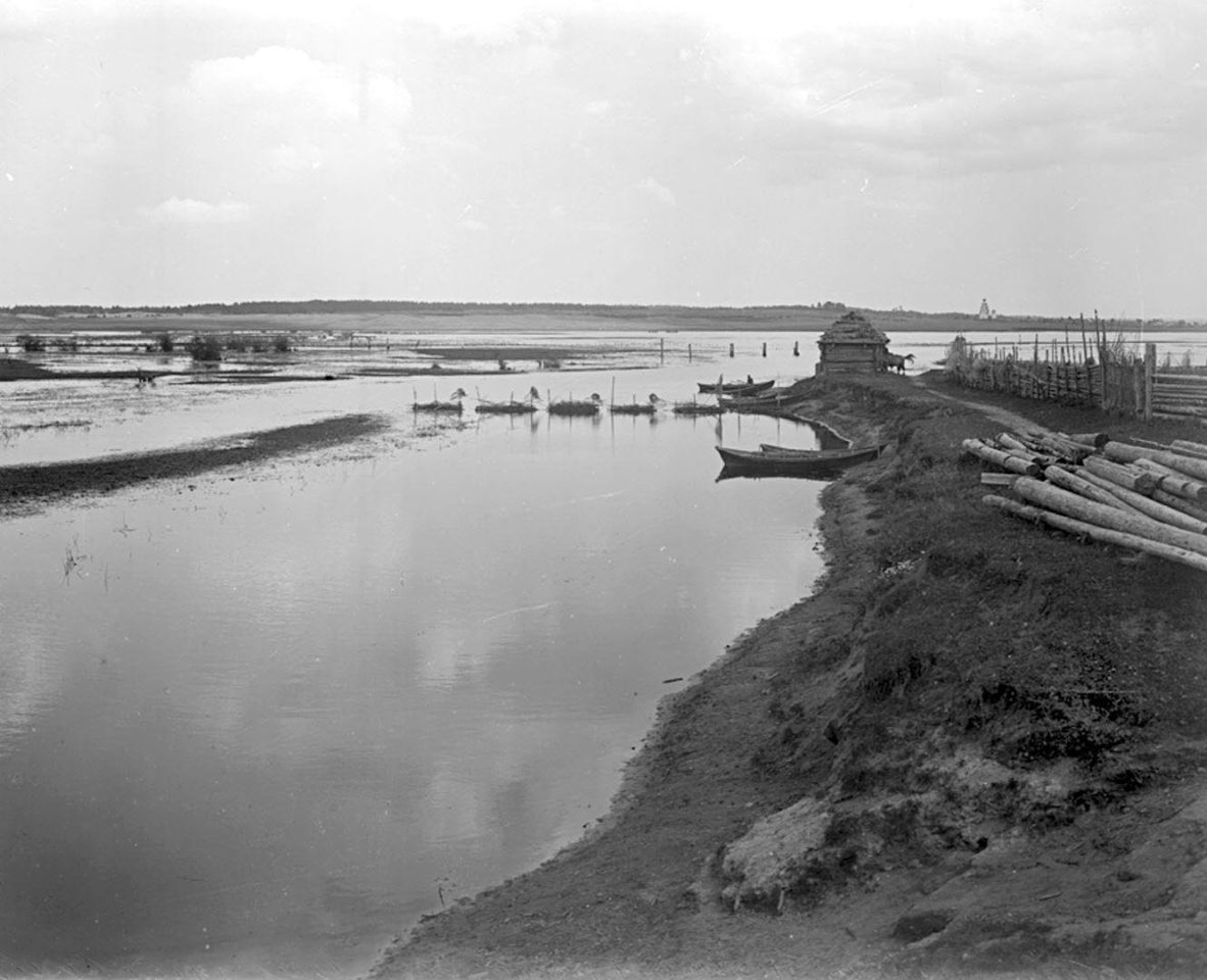 Вид Волги, Стержского озера и реки Рупы. 1903 г. Тверская губерния.