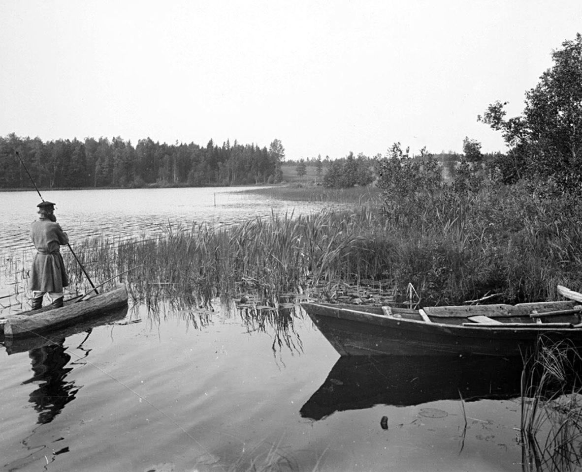 Вид озера Вершито на третьей версте от истока реки 1903 г. Тверская губерния. 3