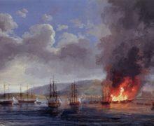 День победы русского флота над турками в Чесменском сражении 1770 года.