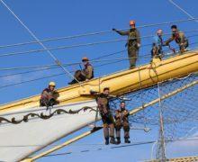 Мастера верфи «Полтава» отремонтировали стоячий такелаж на фрегате «Херсонес»
