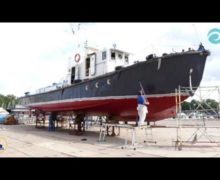 Покраска судна «Аксидиан» (в ускоренном режиме)