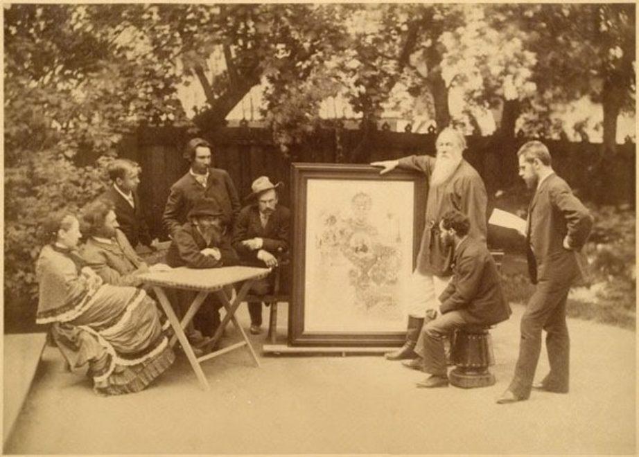 Стасов В.В. с поднесённым ему адресом. 1886 год.